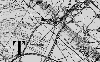 Old map of Shotwick in 1896