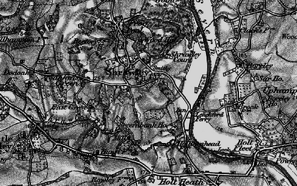 Old map of Shrawley in 1898