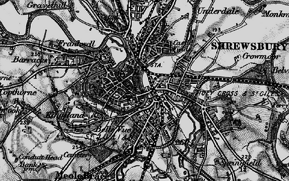 Old map of Shrewsbury in 1899
