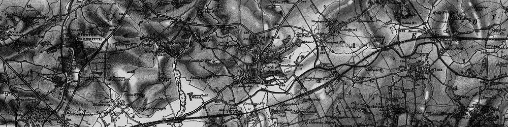 Old map of Shrivenham in 1896