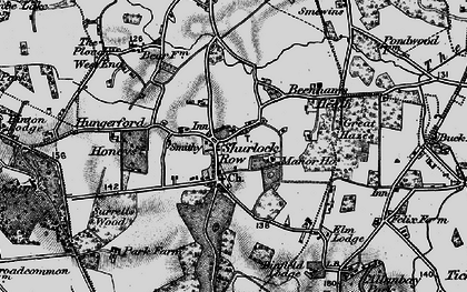 Old map of Allanbay Park in 1895