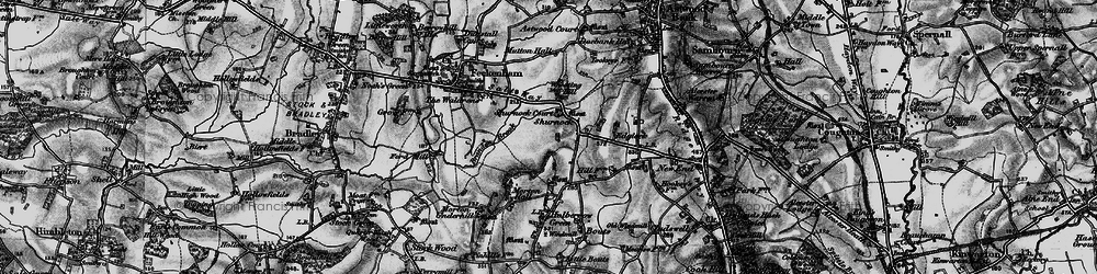 Old map of Wheating Hill in 1898