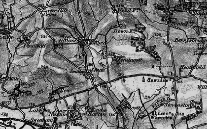 Old map of Yendacott Manor in 1898