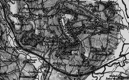 Old map of Shute in 1898