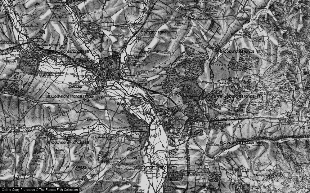 Old Map of Historic Map covering Ashley Hill in 1895