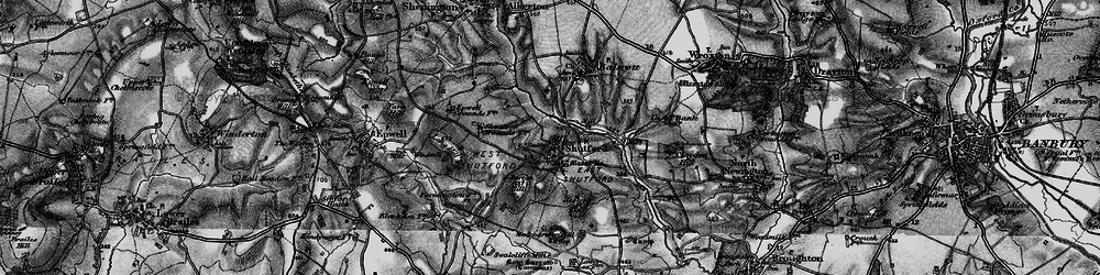 Old map of Alkerton Grounds in 1896
