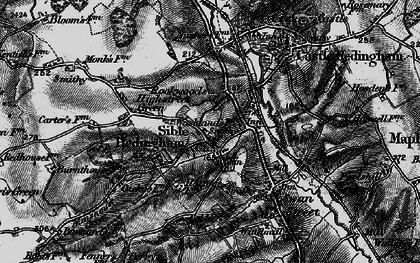Old map of Sible Hedingham in 1895