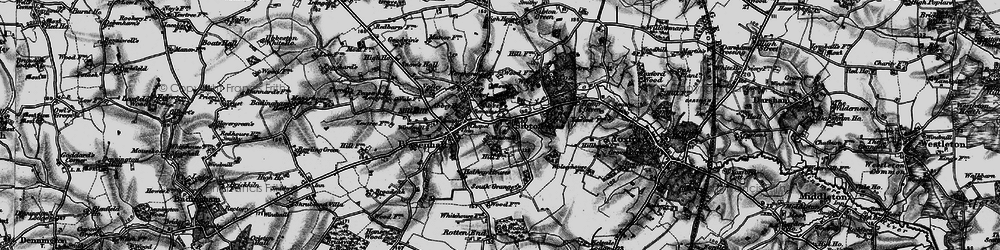 Old map of Sibton in 1898