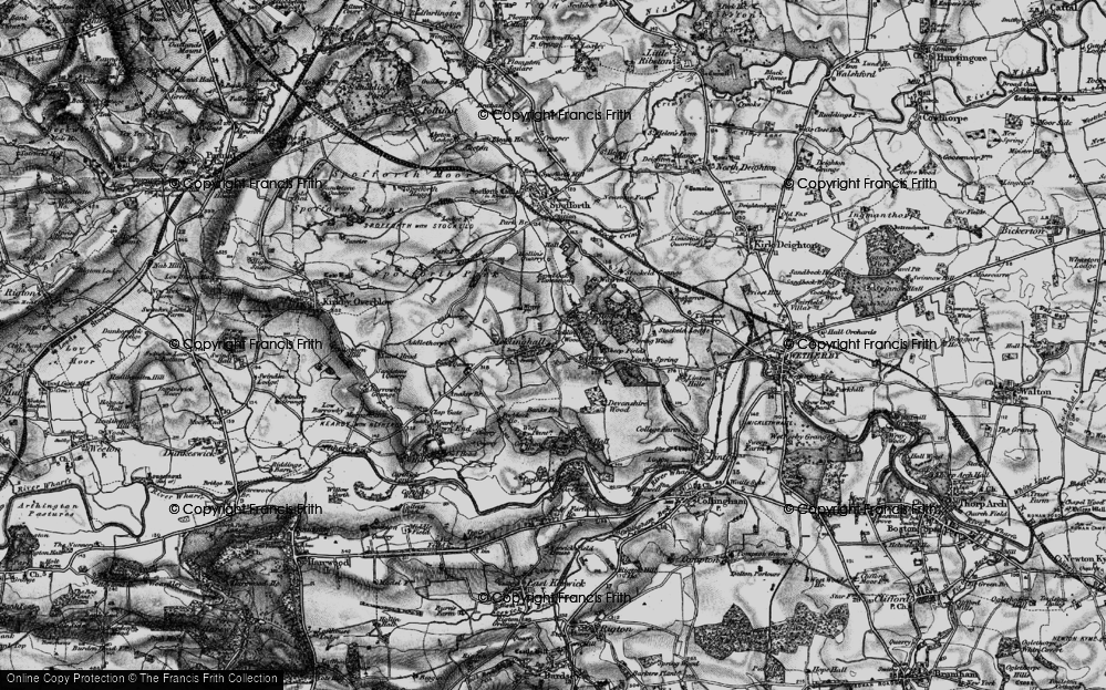 Old Map of Historic Map covering Linton Springs (Hotel) in 1898