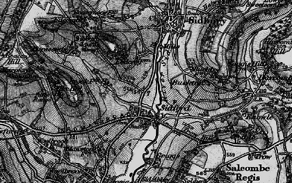 Old map of Sidford in 1897