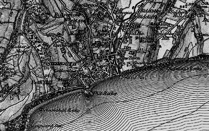 Old map of Sidmouth in 1897
