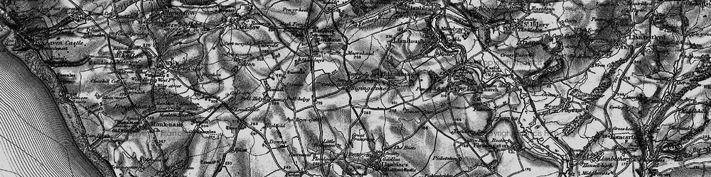 Old map of Sigingstone in 1897