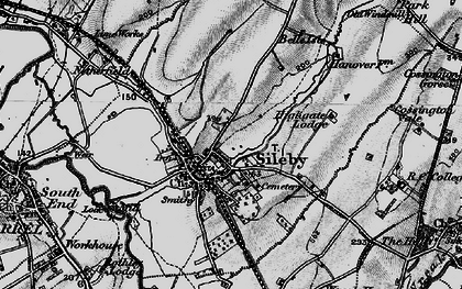 Old map of Sileby in 1899