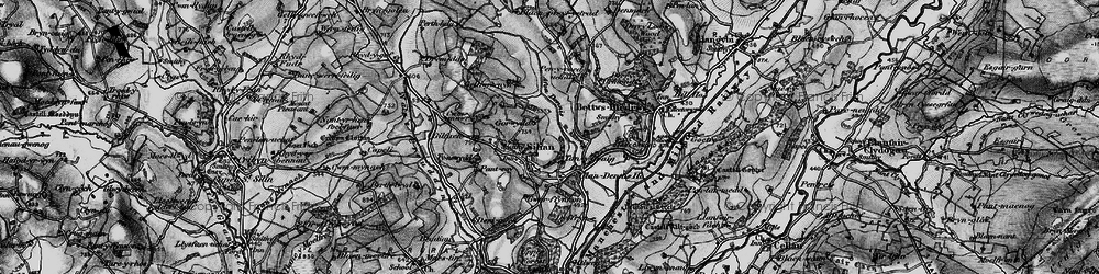 Old map of Afon Denys in 1898