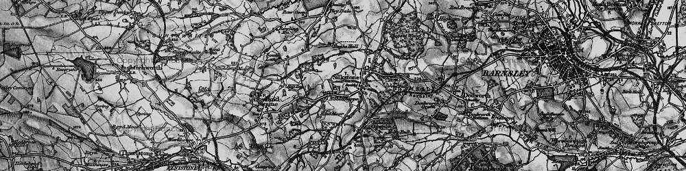 Old map of Silkstone in 1896