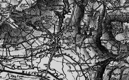 Old map of Silsden in 1898