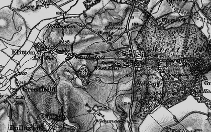 Old map of Wrest Ho in 1896