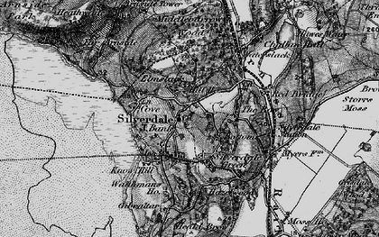 Old map of Silverdale in 1898