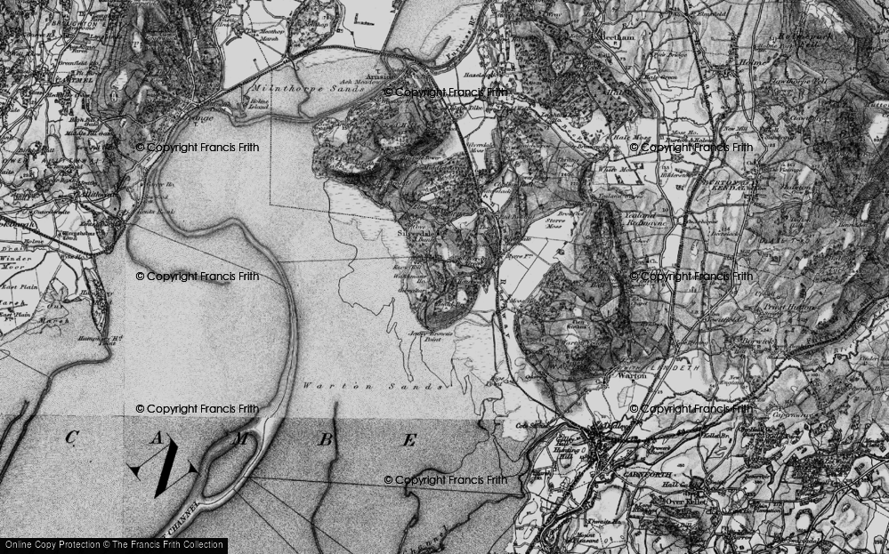 Old Map of Historic Map covering Lindeth Twr in 1898