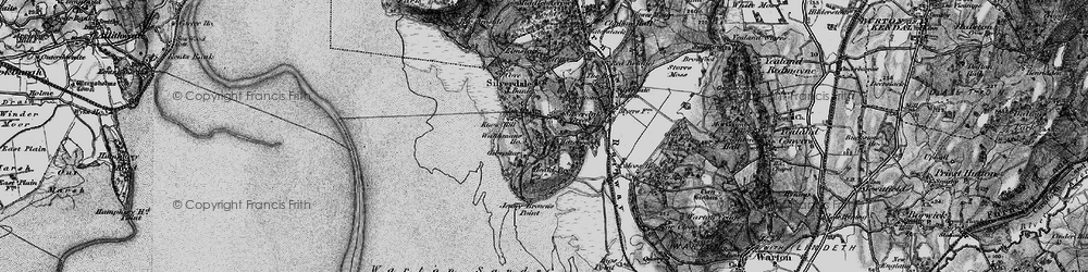 Old map of Lindeth Twr in 1898