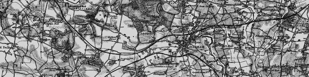 Old map of Abel Heath in 1898