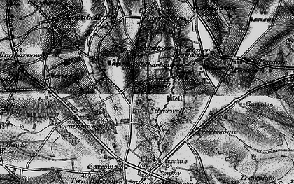 Old map of Silverwell in 1895