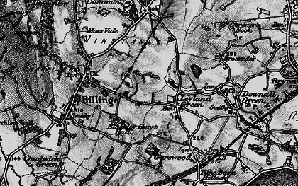 Old map of Simm's Lane End in 1896