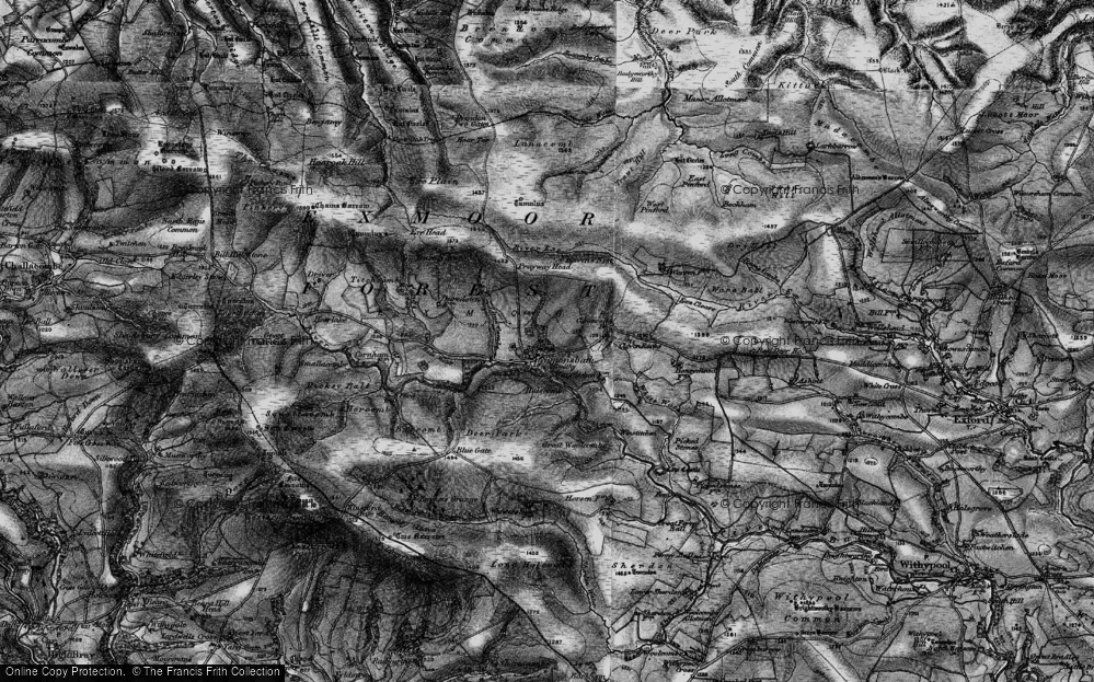 Old Map of Historic Map covering Lime Combe in 1898