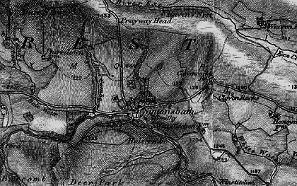 Old map of Lime Combe in 1898