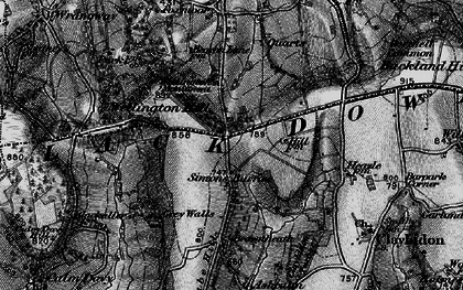 Old map of Whitehams in 1898