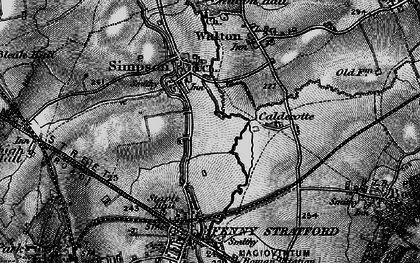 Old map of Simpson in 1896
