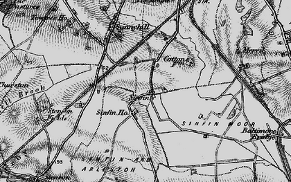 Old map of Sinfin in 1895