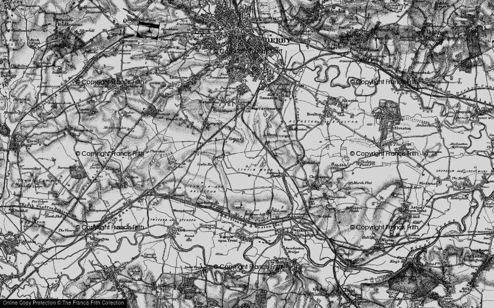 Old Map of Sinfin Moor, 1895 in 1895