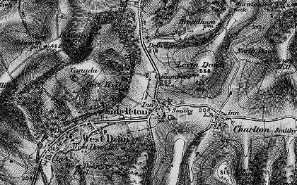Old map of Singleton in 1895