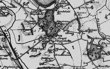 Old map of Singleton in 1896