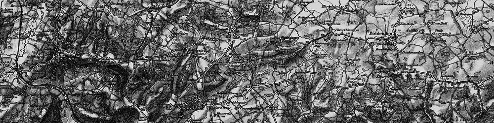 Old map of Sissinghurst in 1895