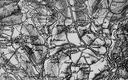 Old map of Sithney in 1895