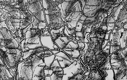 Old map of Lanner Vean in 1895