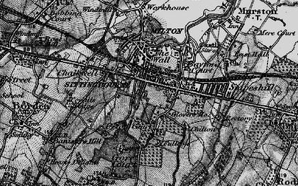 Old map of Sittingbourne in 1895
