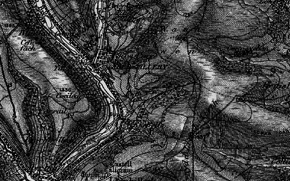 Old map of Six Bells in 1897