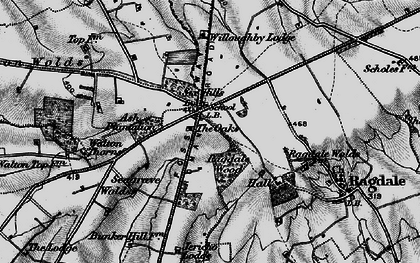 Old map of Wymeswold Lodge in 1899