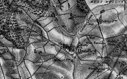 Old map of Wyke Down in 1895