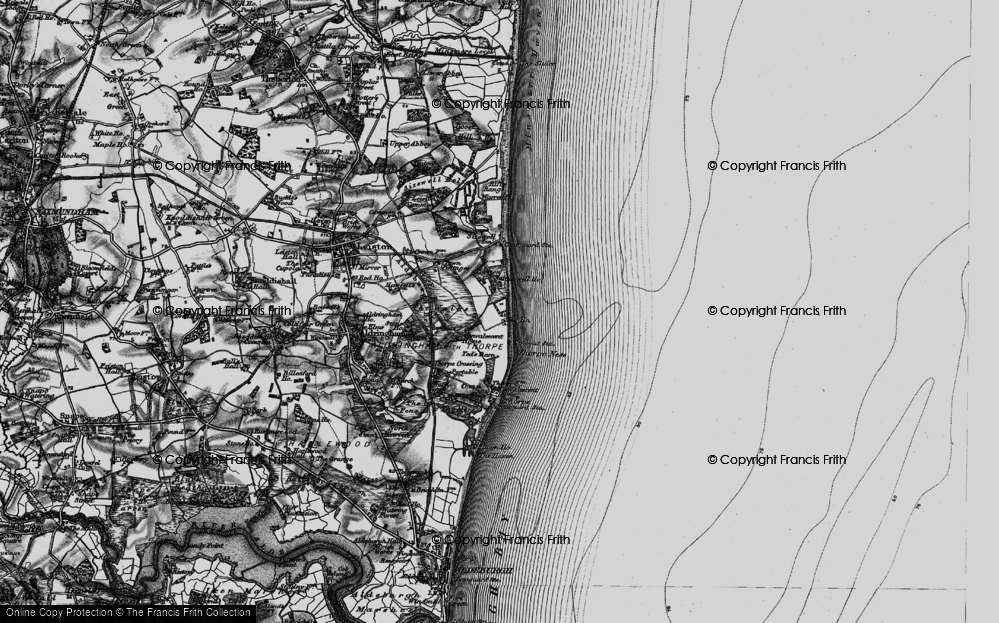 Old Map of Sizewell, 1898 in 1898