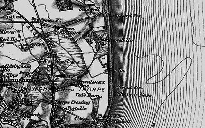 Old map of Sizewell in 1898