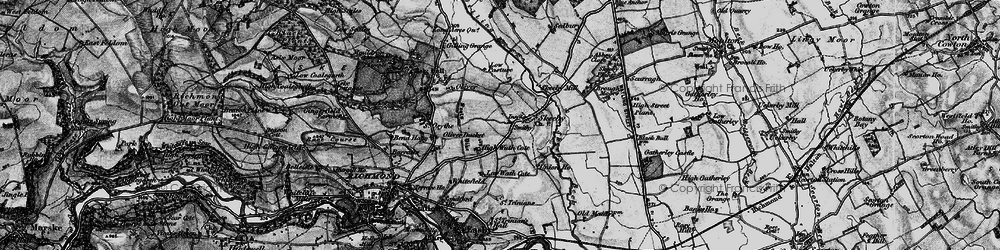 Old map of Skeeby in 1897