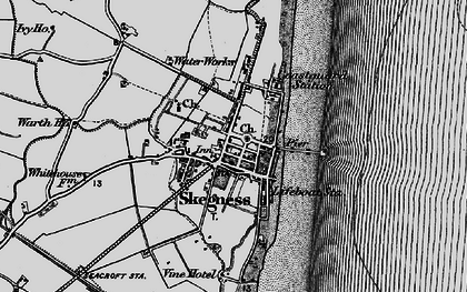 Old map of Skegness in 1898