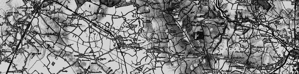 Old map of Skelmersdale in 1896