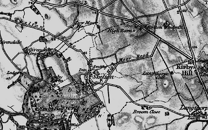 Old map of Skelton on Ure in 1898
