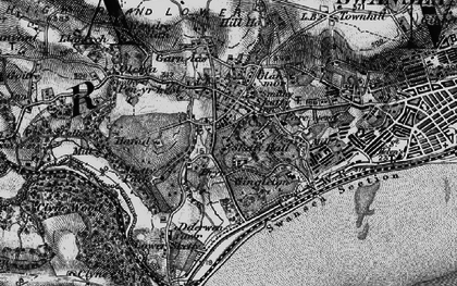 Old map of Sketty in 1897