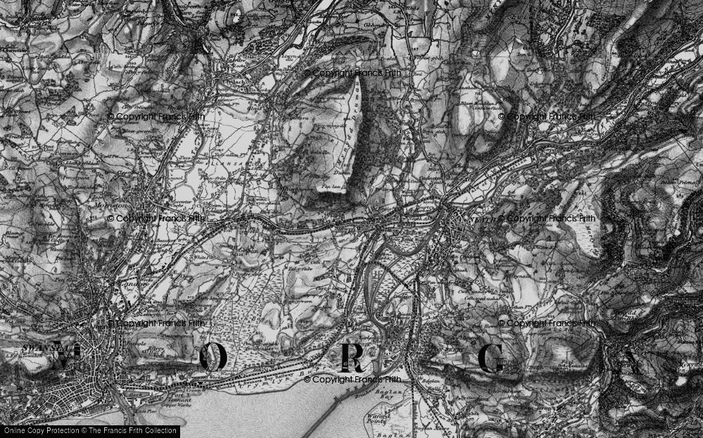 Old Map of Skewen, 1898 in 1898